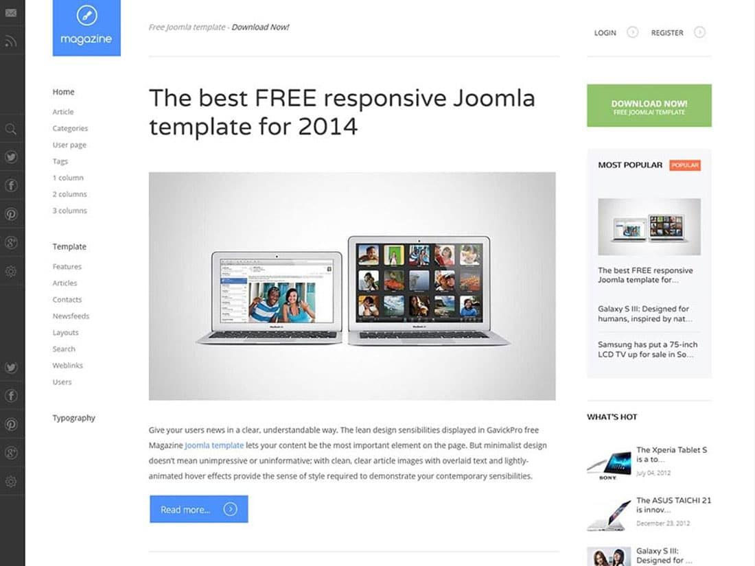 Magazine - 10+ Best Free & Responsive WordPress Themes 2016