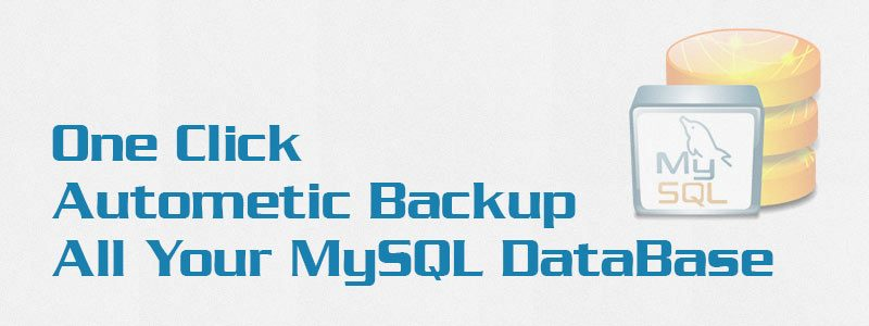 One Click Autometic Backup All Your MySQL DataBase 800x300 - One Click Automatic Backup All Your MySQL Database in zip format on Windows