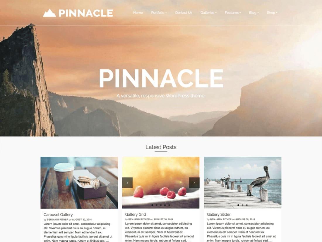 Pinnacle - 10+ Best Free & Responsive WordPress Themes 2016