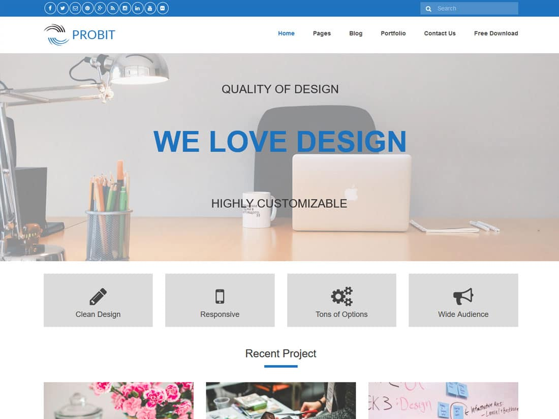probit lite - 10+ Best Free & Responsive WordPress Themes 2016