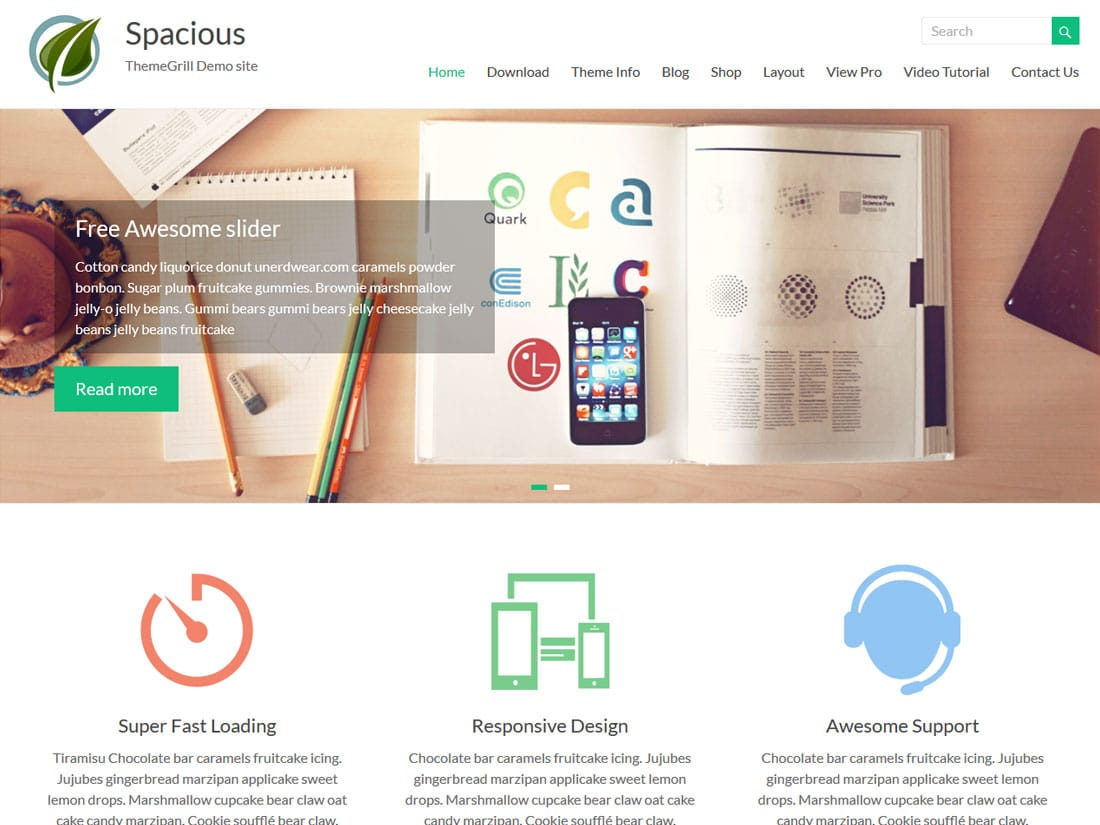 spacious - 10+ Best Free & Responsive WordPress Themes 2016