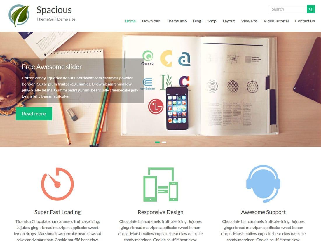 spacious - 10+ Best Free & Responsive WordPress Themes 2016
