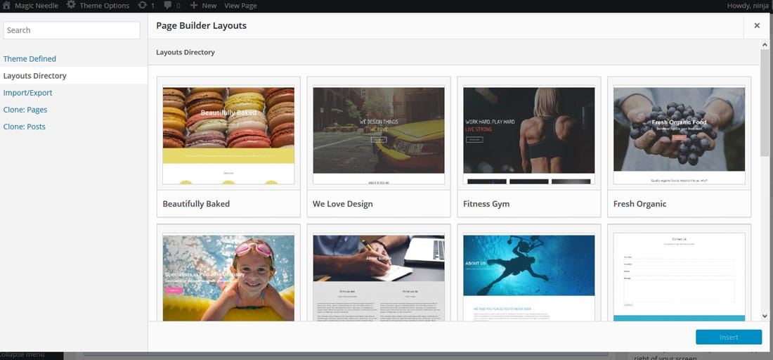 SiteOrigin builtin theme - The Best Free Drag and Drop WordPress Page Builder Plugin