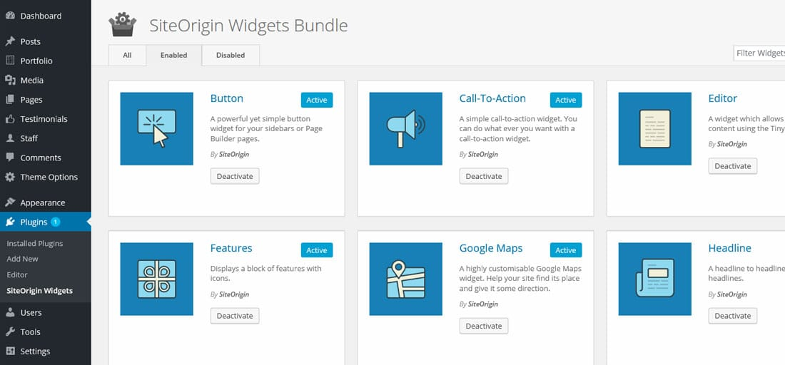 SiteOrigin widget bundle - The Best Free Drag and Drop WordPress Page Builder Plugin
