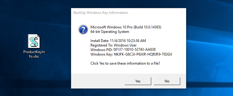 Windows 10 or 8 or 7 Product Key Finder