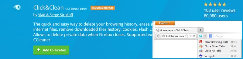 Firefox Privacy control Click Clean - Must Have (or Try) Best Firefox Addons 2017