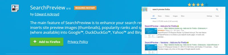 #8: Thumb preview on search results - SearchPreview