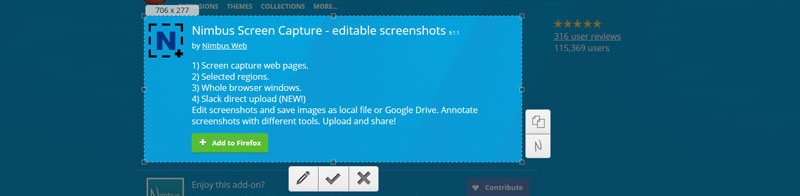 Nimbus Screen Capture - Must Have (or Try) Best Firefox Addons 2017