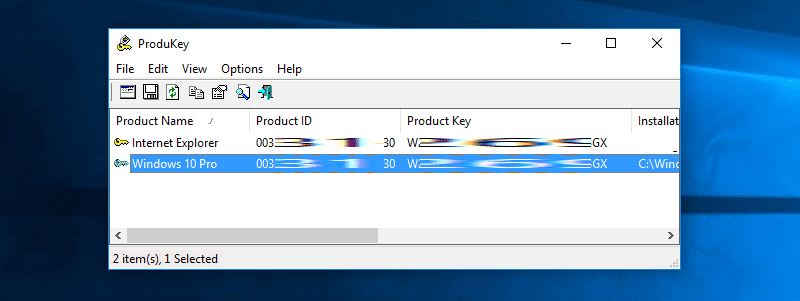 Use NirSoft's ProduKey to Recover Windows product key