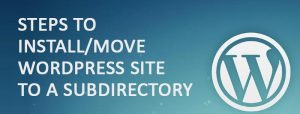 Steps to Install or Move WordPress Site to a Subdirectory 300x114 - Steps to Install or Move WordPress Site to a Subdirectory