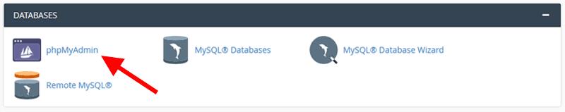 cpanel databaes phpmyadmin - Create a WordPress Admin User via MySQL Database Using PHPMyAdmin