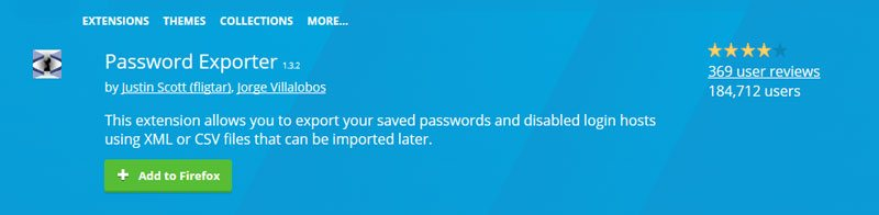 import export saved password - Must Have (or Try) Best Firefox Addons 2017