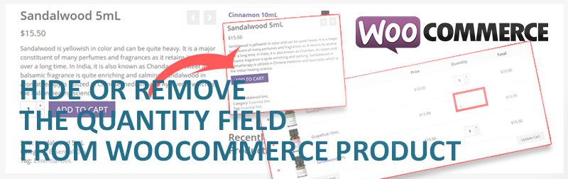 Hide or remove the quantity field from WooCommerce Product – PRoy's Blog
