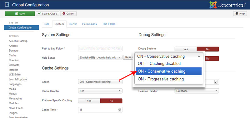 Joomla Cache Settings - How to Speed Up Joomla To Improve Site Performance