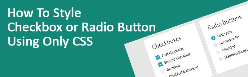 Style Checkbox or Radio Button Using Only CSS 800x249 - How To Style Checkbox or Radio Button Using Only CSS