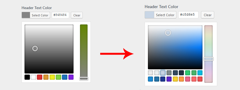wordpress custom color picker palettes - WordPress Color Picker Enhancement