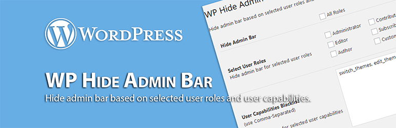 WordPress Hide Admin Bar - WordPress Hide Admin Bar